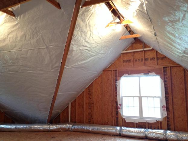 A recent radiant barrier job in the Raleigh, NC area