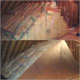 A recent attic insulation job in the Raleigh, NC area