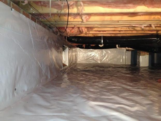 A recent crawl space insulation job in the Durham, NC area