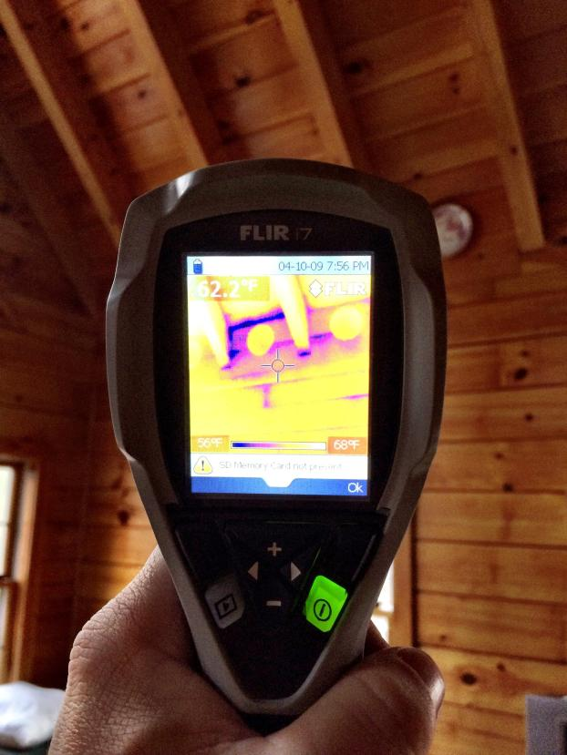 A recent energy audit job in the Wake Forest, NC area