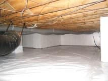 A recent crawl space encapsulation job in the Raleigh, NC area