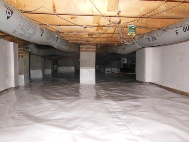 A recent seal crawl space job in the Raleigh, NC area