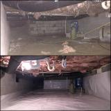 A recent crawl space sealing job in the Raleigh, NC area