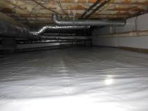 After a completed sealing crawl space project in the Durham, NC area
