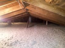 After a completed cellulose insulation contractors project in the Raleigh, NC area